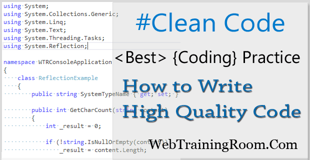 how to write clean code