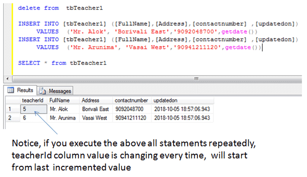 sql delete statement example