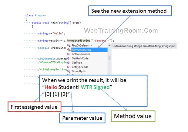extension method c# .net