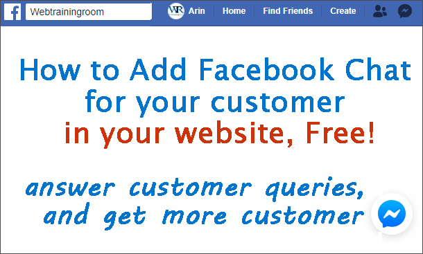 add facebook chat in website