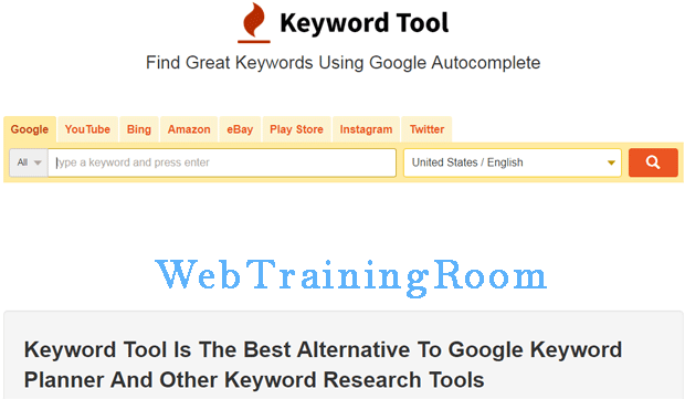 keywords planner tool
