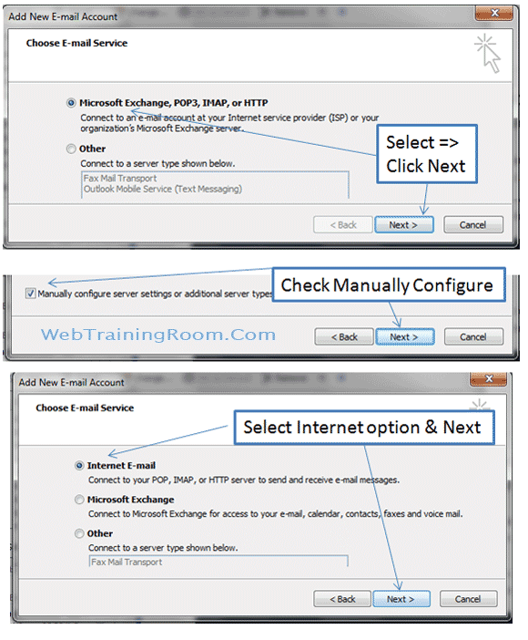 How to configure email in Microsoft Outlook