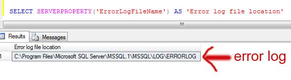 error log file in sql database